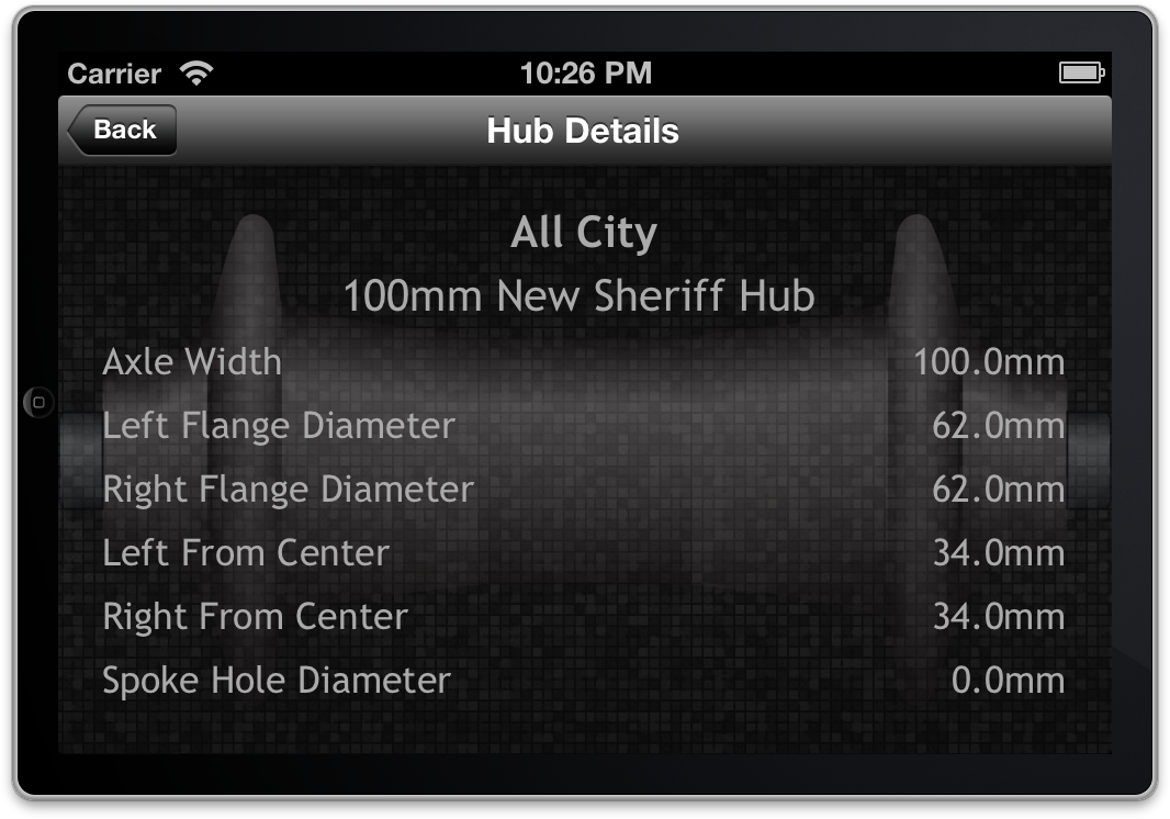 Hub Details Screen Shot